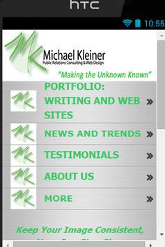 Michael Kleiner PR, Web & Apps poster