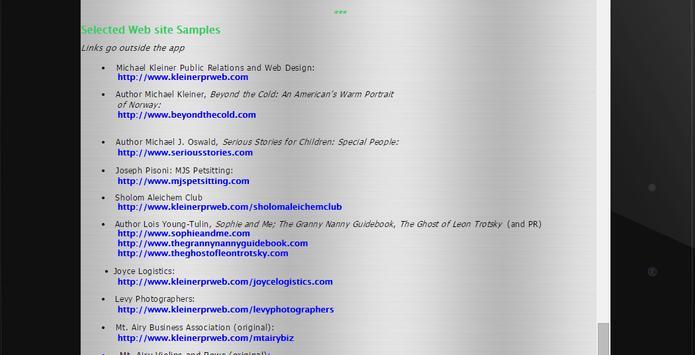 Michael Kleiner PR, Web & Apps apk screenshot