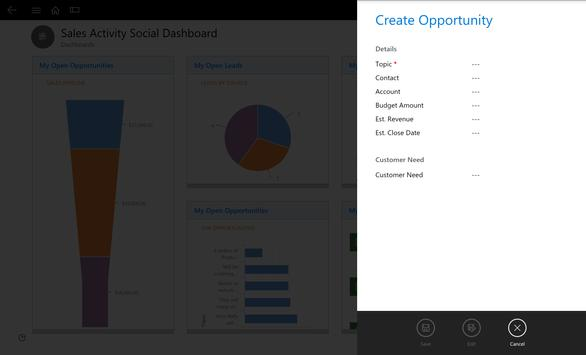Dynamics 365 for Tablets apk screenshot
