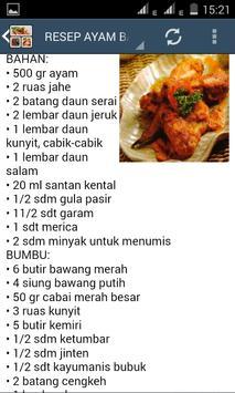 Resep Ayam Bakar apk screenshot