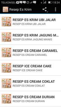 Resep Es Krim apk screenshot
