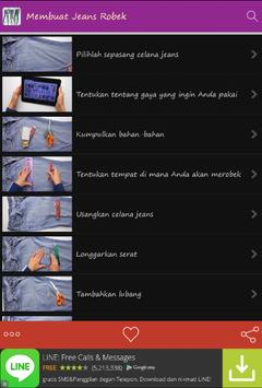 Membuat Jeans Robek apk screenshot
