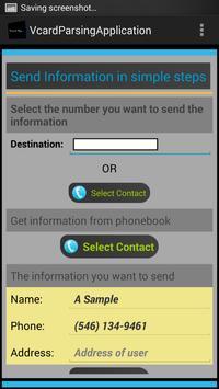 Vcard Parsing apk screenshot