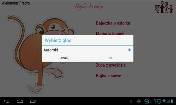 Bajki Fredry apk screenshot