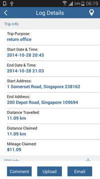 Mileage Claim (with ERP) apk screenshot
