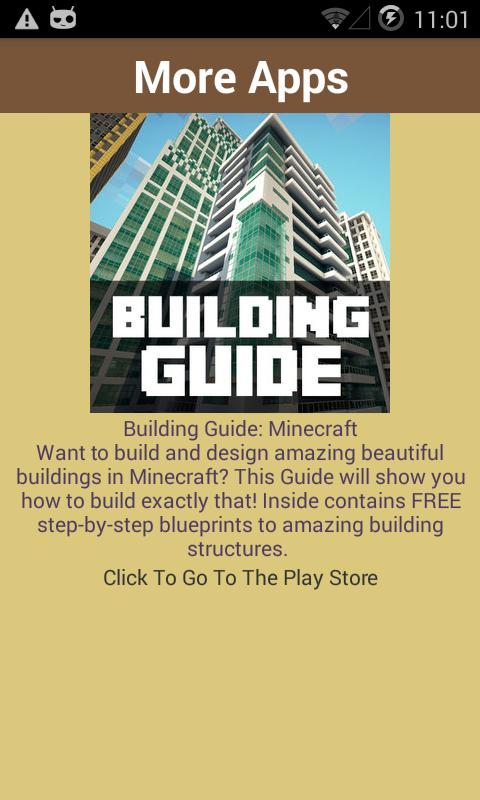 House guide minecraft building apk download free books for Home building guide