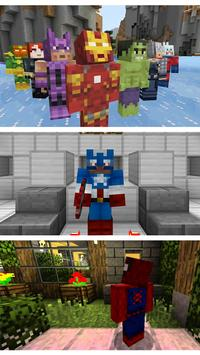 Skins for Minecraft Superhero poster