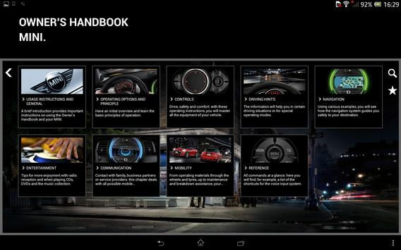 MINI Driver's Guide apk screenshot