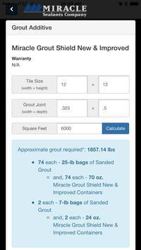 Miracle Sealants Calculator apk screenshot