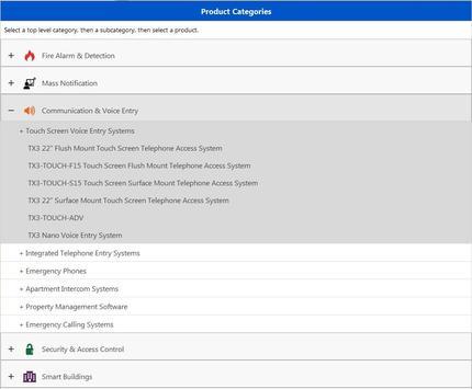 Mircom Product Catalog apk screenshot