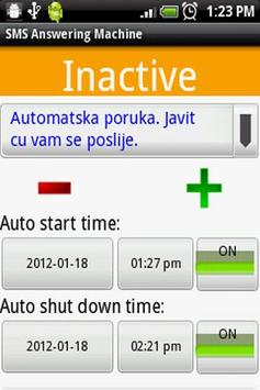 SMS (Text) Answering Machine apk screenshot
