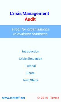 Crisis Management Audit poster