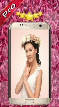 Flower Wedding Crown Hairstyle poster