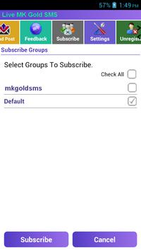 MKGOLD SMS apk screenshot