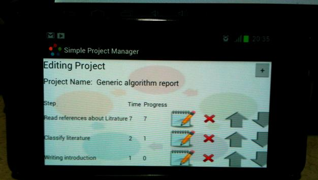 Simple Project Manager apk screenshot