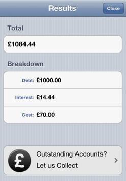 Late Payment Calculator (UK) apk screenshot