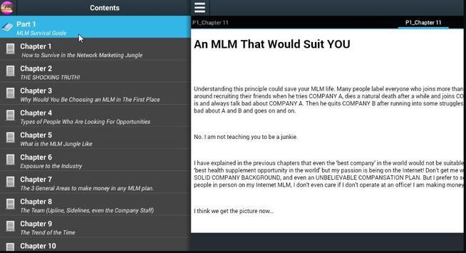 MLM Survival Guide apk screenshot