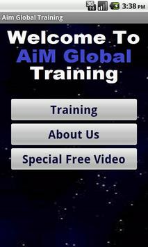 Aim Global Business Training poster