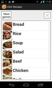 USA Recipes poster