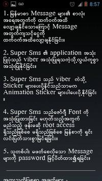 Super Sms  For Myanmar poster