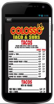 Colosso Taco & Subs apk screenshot