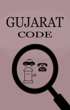 Gujarat Pincode,Rto STD code poster