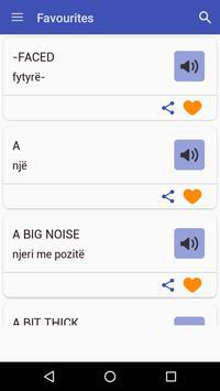 English To Albanian Dictionary apk screenshot