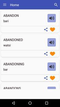 English To Hausa Dictionary apk screenshot