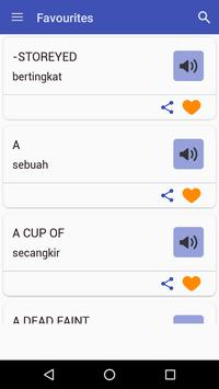 English Indonesian Dictionary apk screenshot
