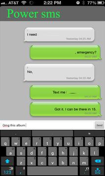 Power sms Text messaging poster