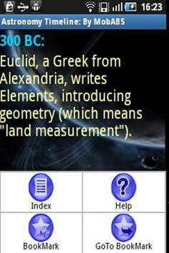 Astronomy Timeline apk screenshot