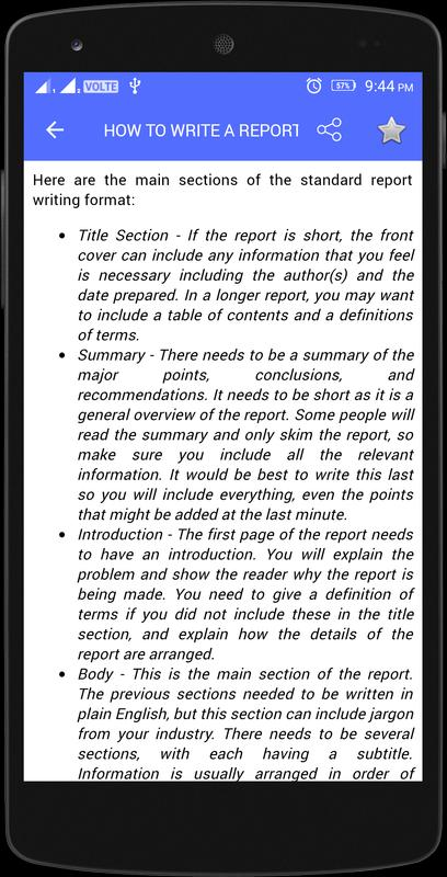 Report writing format download – Report Writing Format Template