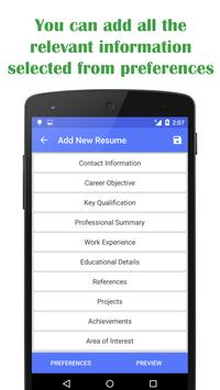 quick resume builder poster quick resume builder apk screenshot - Quick Resume Builder Free