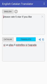 English Catalan Translator apk screenshot