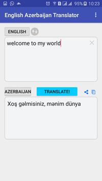English  Azerbaijan Translator poster