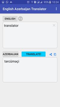 English  Azerbaijan Translator apk screenshot