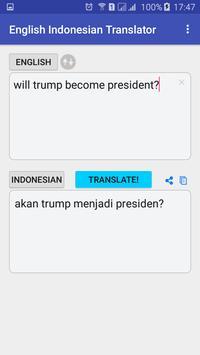 English Indonesian Translator apk screenshot