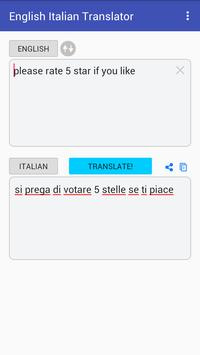 English Italian Translator apk screenshot