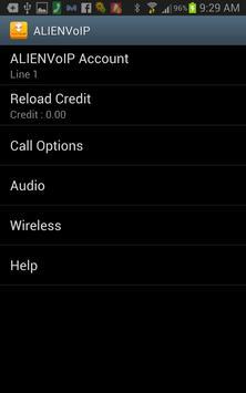 AlienVoIP apk screenshot