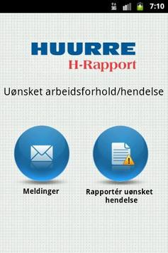 Huurre H-Rapport poster