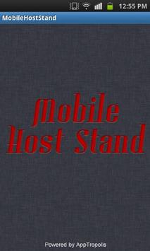 Mobile Host Stand poster