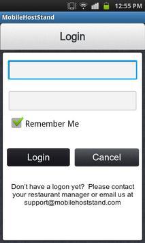 Mobile Host Stand apk screenshot