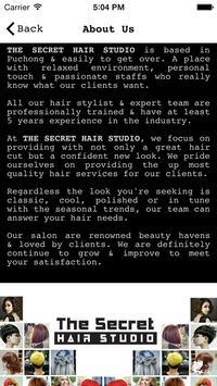 Secret Hair Studio apk screenshot