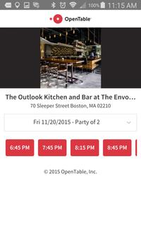Outlook Kitchen + Bar apk screenshot