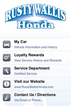 Rusty Wallis Honda Rewards poster