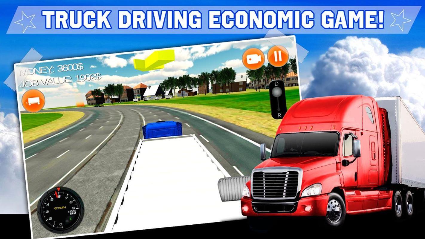 American truck simulator 3d apk download free simulation for Simulatore 3d