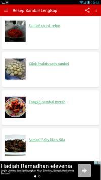 Resep Sambal Nusantara Lengkap apk screenshot