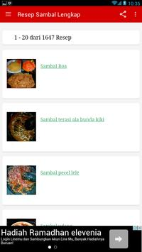 Resep Sambal Nusantara Lengkap poster