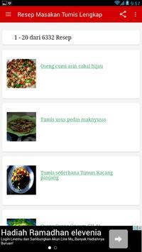 Resep Masakan Tumis Lengkap apk screenshot
