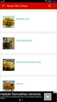 Resep Tahu Tempe Lengkap apk screenshot